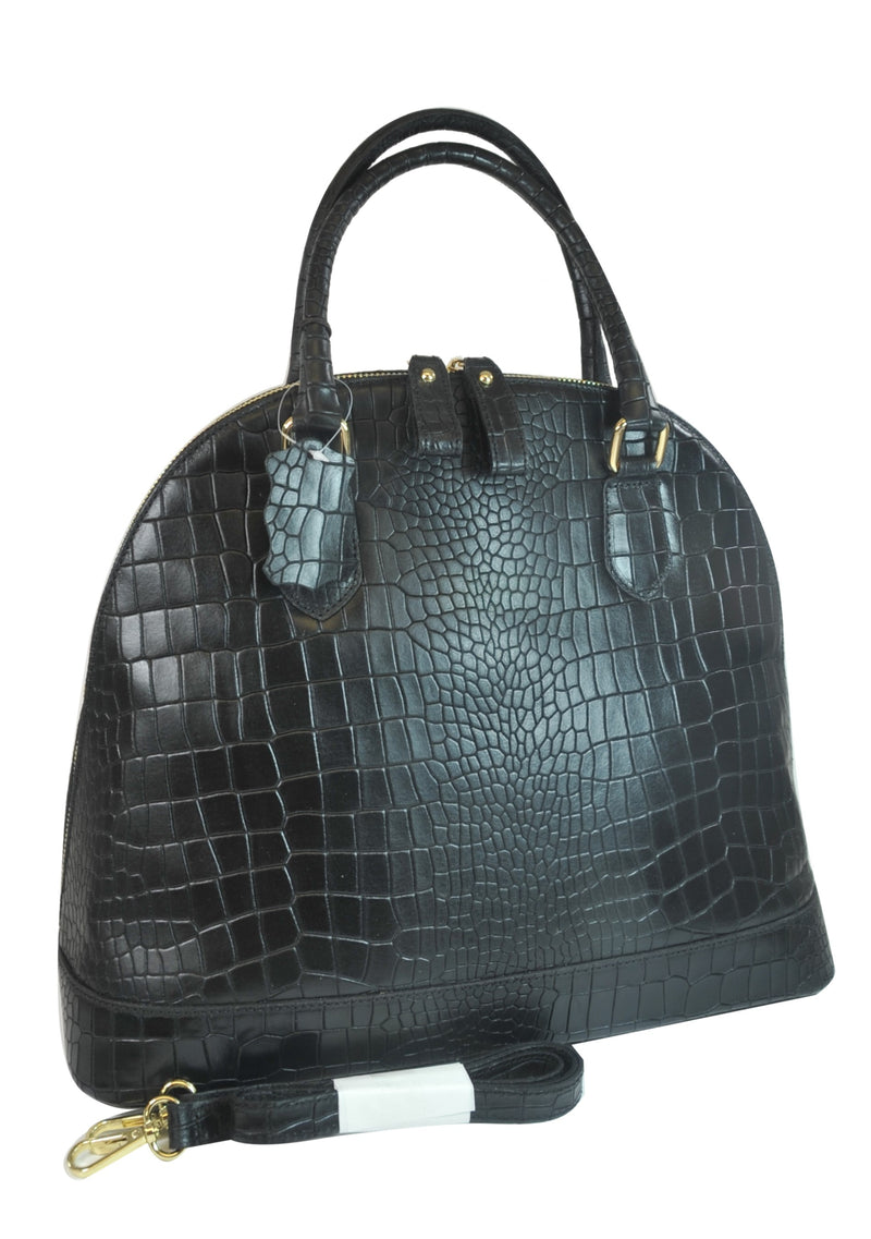 Misty U.S.A. 100% Genuine Cowhide Leather Handbags Made In Italy  [ITEM#:YG8085-BK]