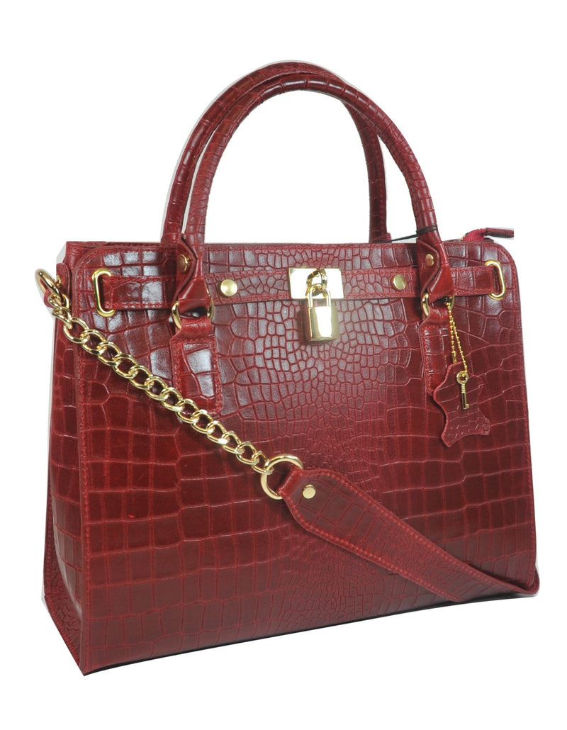 Misty U.S.A. 100% Genuine Cowhide Leather Handbags Made In Italy  [ITEM#:YG8087-RD]