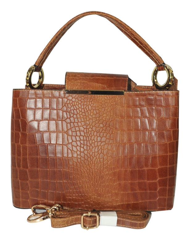 Misty U.S.A. 100% Genuine Cowhide Leather Handbags Made In Italy [ITEM#:YG8111-BN]