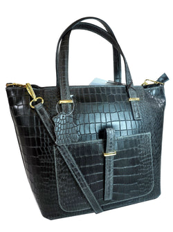Misty U.S.A. 100% Genuine Cowhide Leather Handbags Made In Italy[ITEM#:YG8132-BK]