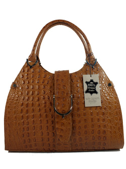 Misty U.S.A. 100% Genuine Cowhide Leather Handbags Made In Italy[ITEM#:YG5899-BN]