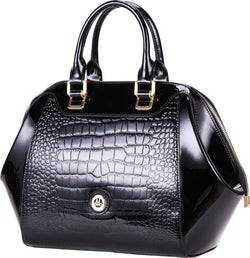 Misty U.S.A. 100% Genuine Cowhide Leather Handbags Made In Italy [ITEM#:MVH5231-BK]