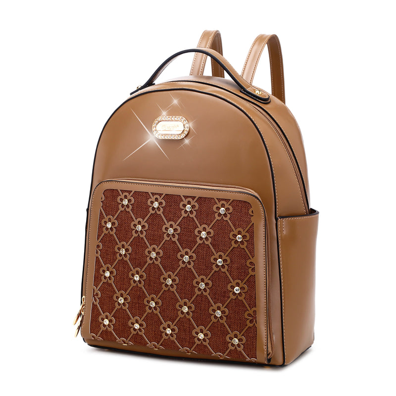 Wildflower Blossom Handmade Classy Work & Travel Backpack - Brangio Italy Collections