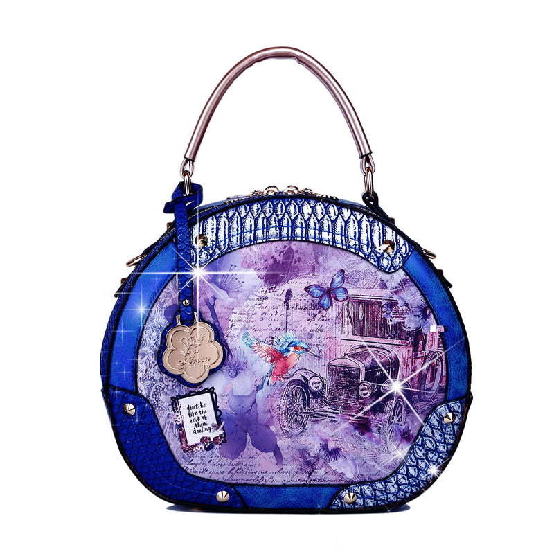 Vintage Darling Sphere Double Zipper Opening Women Purses and Handbags - Brangio Italy Collections