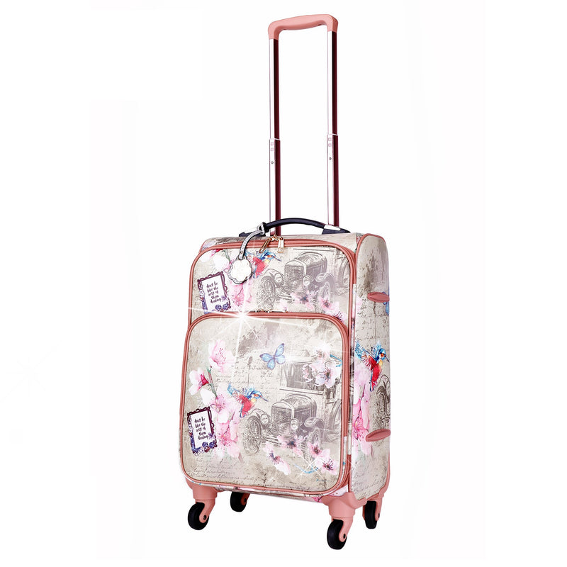 Vintage Darling Classic Travel Luggage for Women With Spinners - Brangio Italy Collections