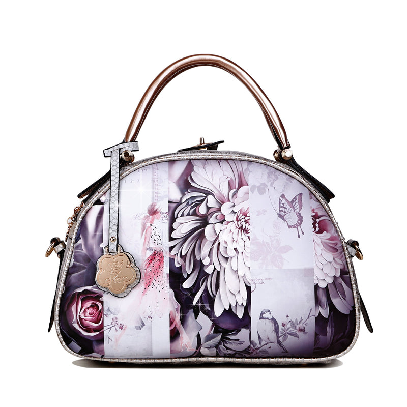 Blossomz Dome Designer Vegan Luxury Leather Bag for Women - Brangio Italy Collections