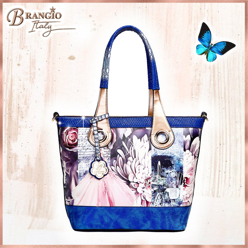 Blossomz Tote Designer Luxury Tote Bag for Women - Brangio Italy Collections