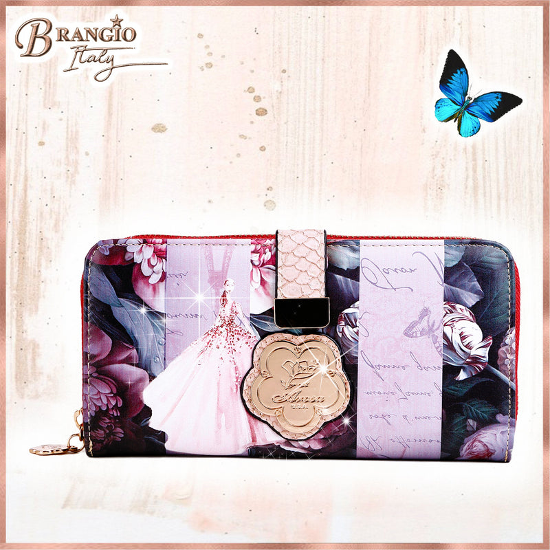 Blossomz Graphic Design Fashion Wallet for Women - Brangio Italy Collections