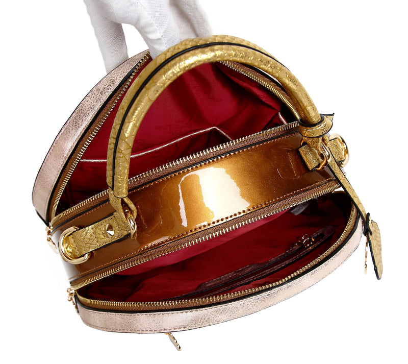 Princess Mera Vintage Sphere Double Zipper Opening Women Purses and Handbags - Brangio Italy Collections