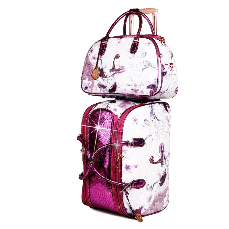 Princess Mera Large Duffel Set Travel Bag for Women - Brangio Italy Collections