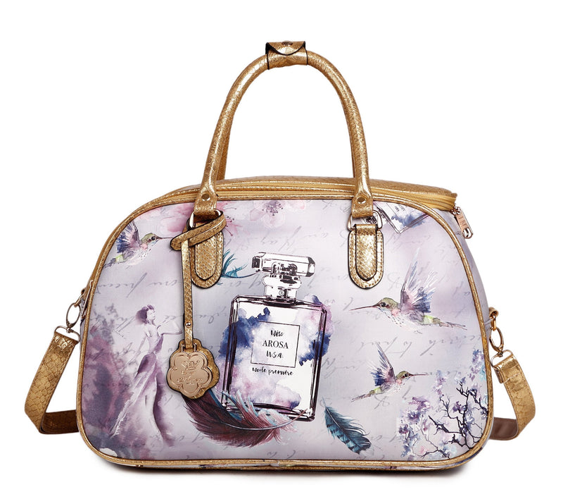 Arosa Fragrance Travel Bag Duffel Set with Clutch and Shoulder Bag - Brangio Italy Collections