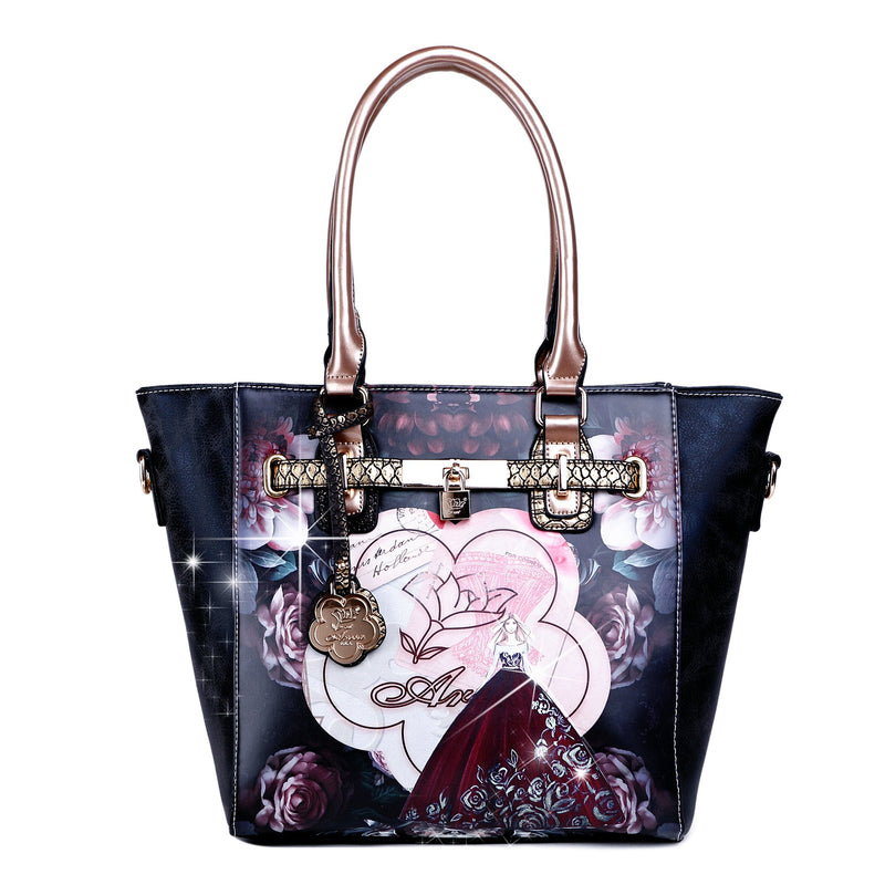 Queen Arosa Designer Luxury Tote Bag for Women - Brangio Italy Collections