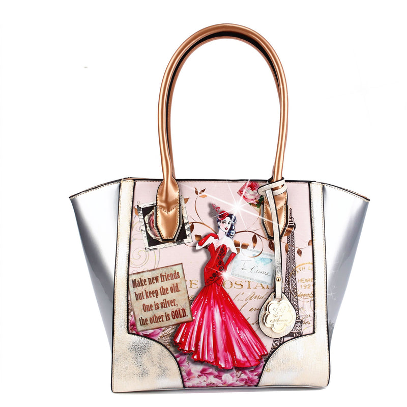 Lady Luck 2.0 Vintage Scratch & Stain Resistant Top-Handle Bag - Brangio Italy Collections