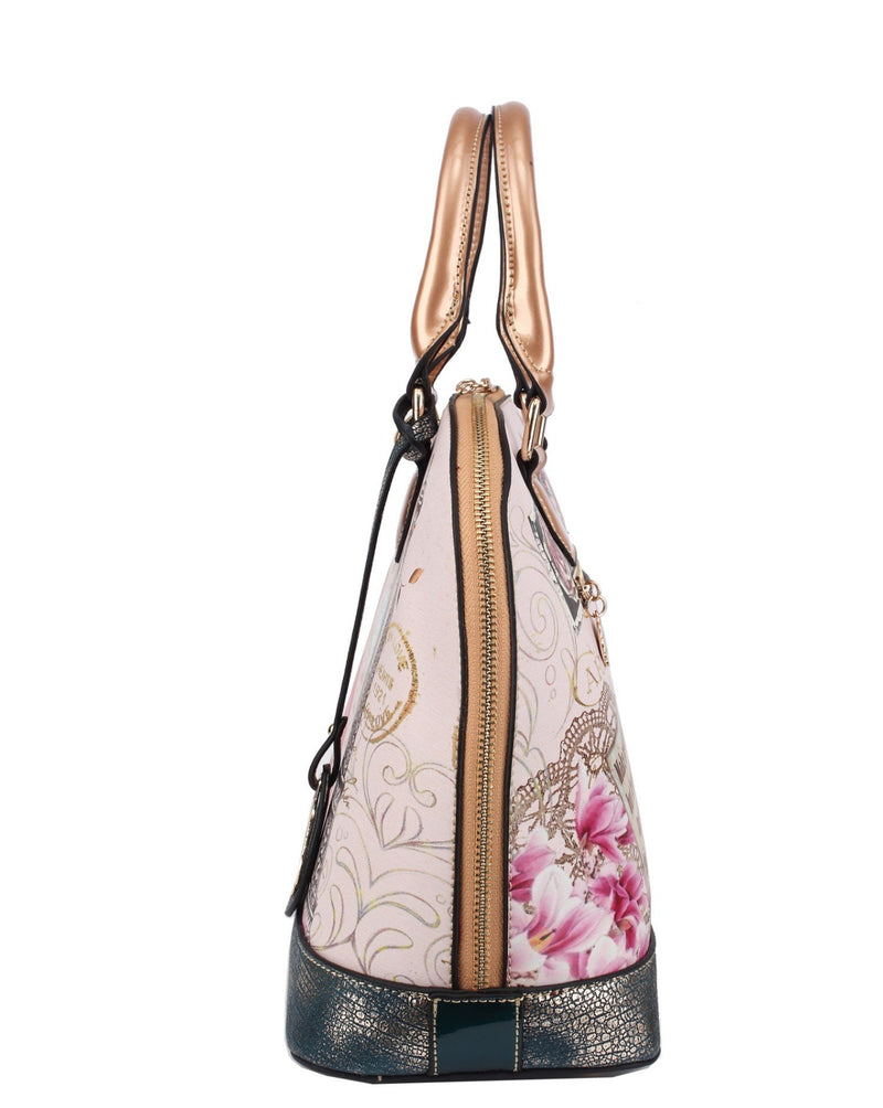 Lady Luck Women's Vintage Scratch & Stain Resistant Top-Handle Bag - Brangio Italy Collections