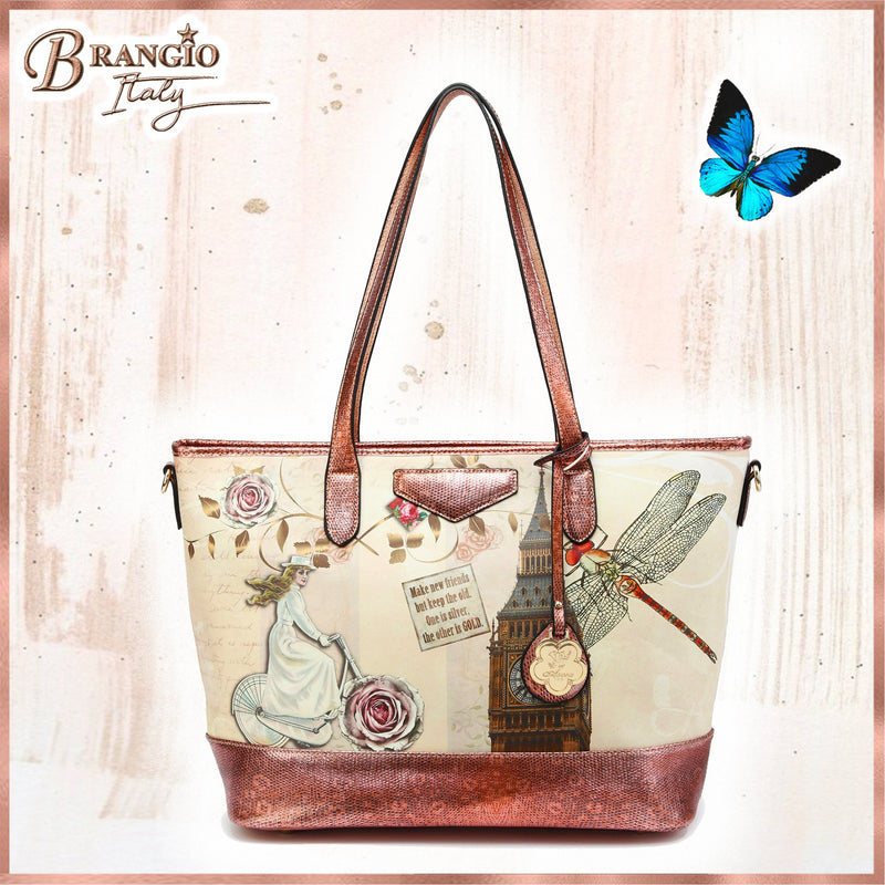 Lady Dream Tote Scratch & Stain Resistant Top-Handle Bag - Brangio Italy Collections