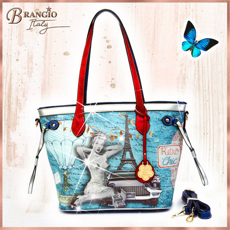 Retro Chic Retro Graphic Buckler - Brangio Italy Collections