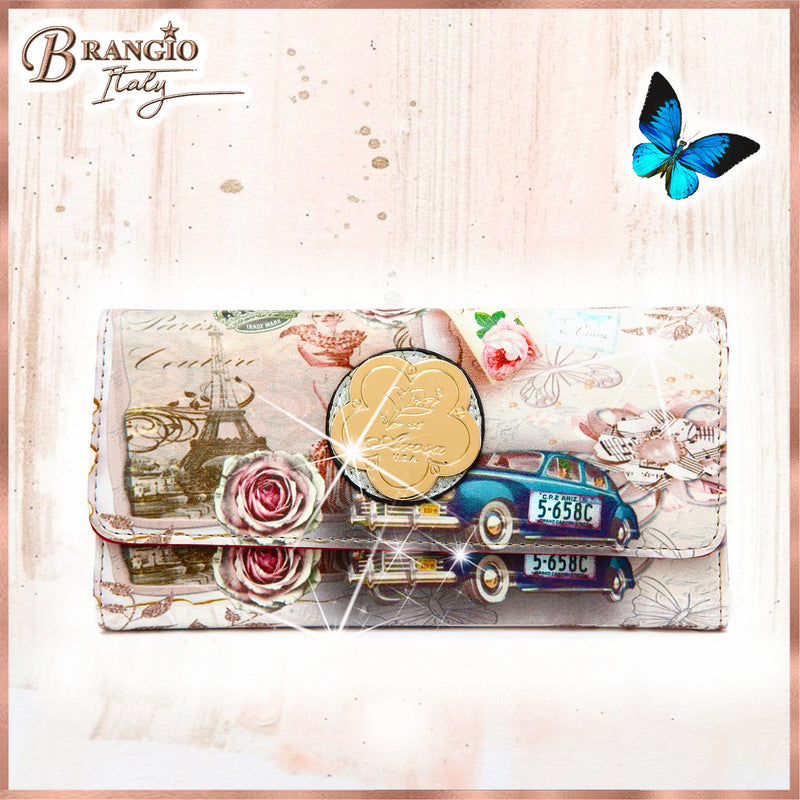 Center Stage Vintage Fashion Wallet for Women - Brangio Italy Collections