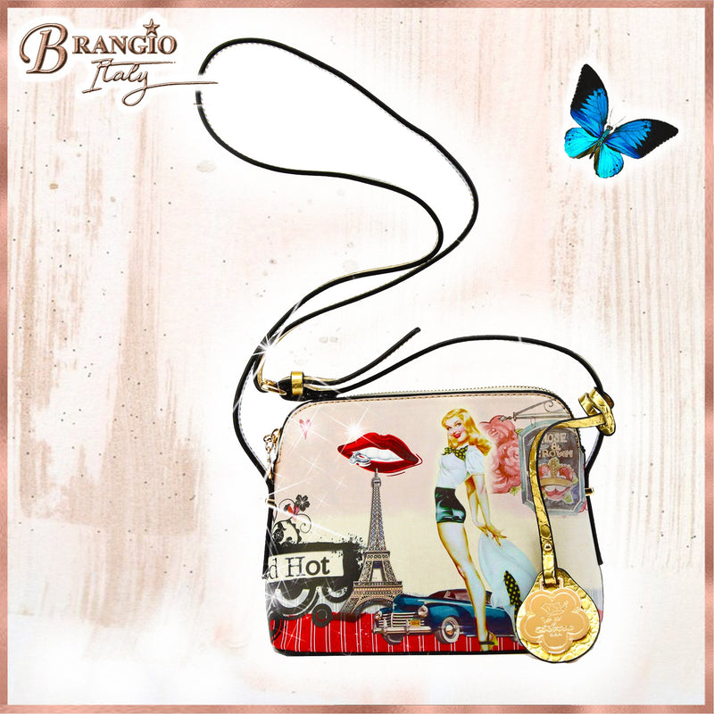 Retro Rebel Satchel Graphic Crossbody - Brangio Italy Collections