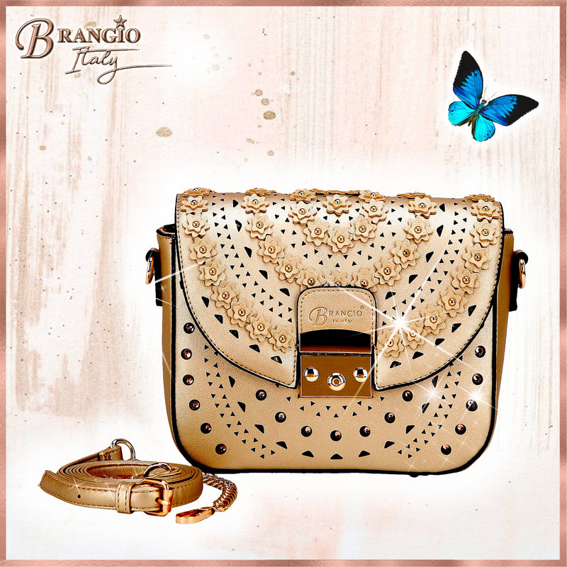 Rosè Celestial Star Crossbody Crystal Satchel - Brangio Italy Collections