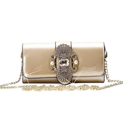 Queen's Crown Magnetic Clasp Womens Crossbody Wallet & Purse - Brangio Italy Collections