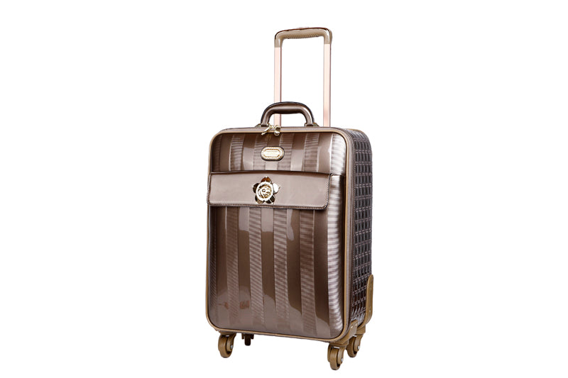 Floral Accent Light Weight Spinner Luggage [ITEM#:KDL8899]