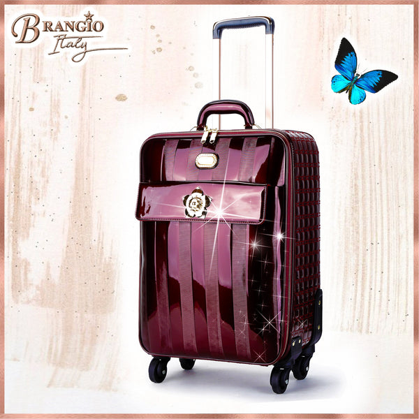 Floral Accent Light Weight Spinner Luggage for the American Tourister - Brangio Italy Collections