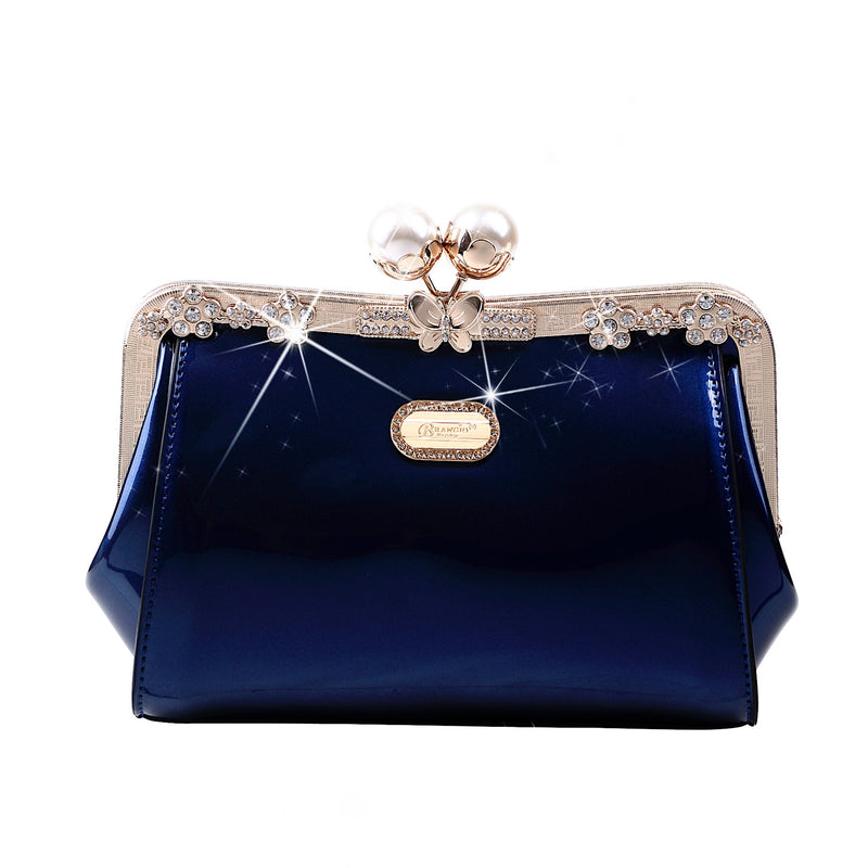 Starry Ocean Blossom Stains & Damage Resistant Womens Crossbody Clutch - Brangio Italy Collections