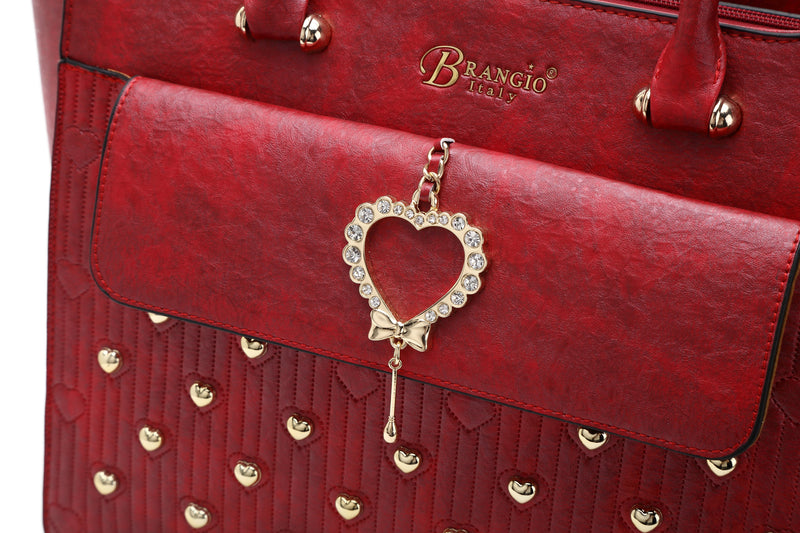 Heart of Gold Handmade Tote Bag - Brangio Italy Collections