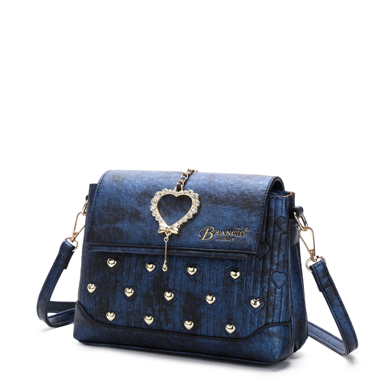Hearts Handmade Cross-body Fashion Satchel - Brangio Italy Collections