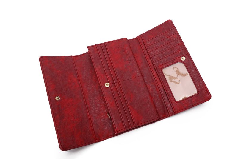 Heart Beat Handmade Women's Tri-Fold Wallet - Brangio Italy Collections