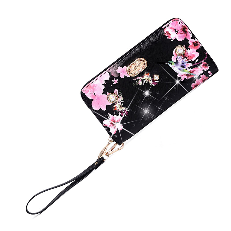 Hummingbird Vintage Wristlet Wallet for Women - Brangio Italy Collections