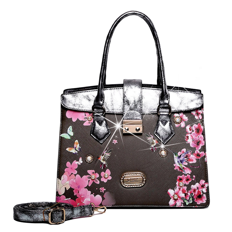 Hummingbird Soar Scratch & Stain Resistant Top-Handle Bag - Brangio Italy Collections