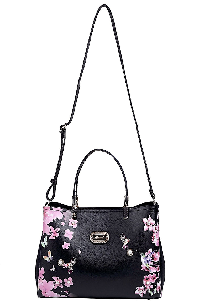 Hummingbird Women's Vintage Sugar Scratch & Stain Resistant Top-Handle Bag - Brangio Italy Collections