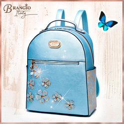 Twinkle Cosmos Handmade Floral Fashion Backpack or Women - Brangio Italy Collections