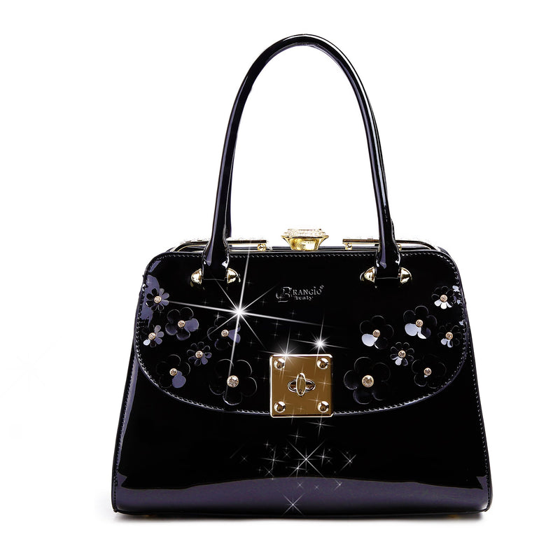Floral Sparx Designer Crystal Handbag for Women - Brangio Italy Collections