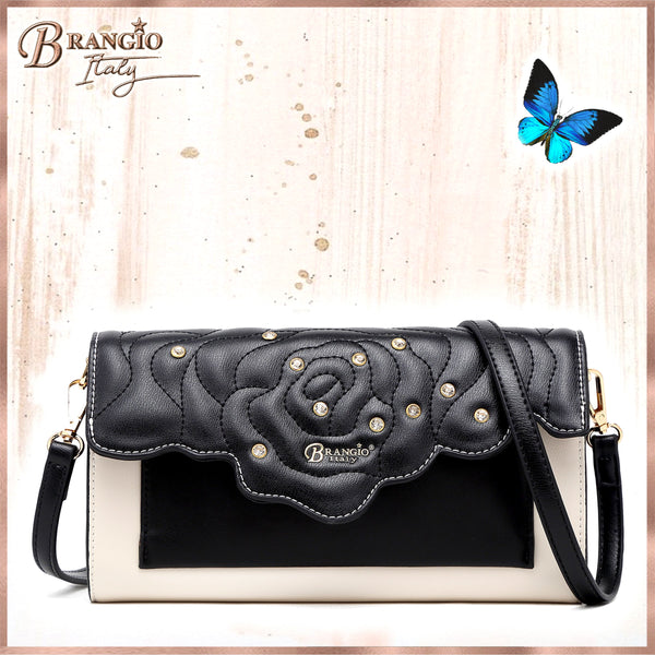 Rosette 3D Crystal Mini Crossbody Clutch - Brangio Italy Collections