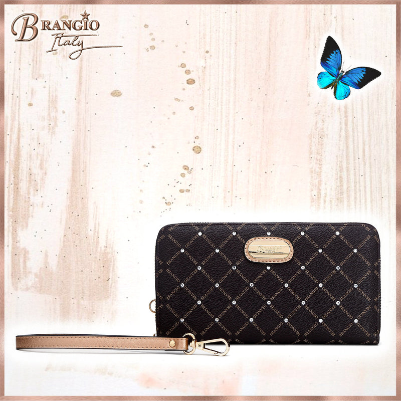 Icon Crystal Transforming Wristlet Wallet - Brangio Italy Collections
