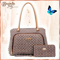 Diamond Moon Vegan Leather Crystal Travel Bag - Brangio Italy Collections