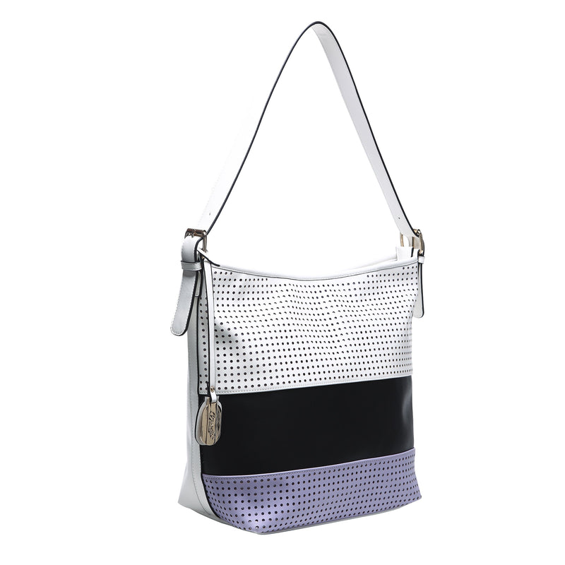 Striped Circles Soft Minimalist Soft Tote Bag - Brangio Italy Collections