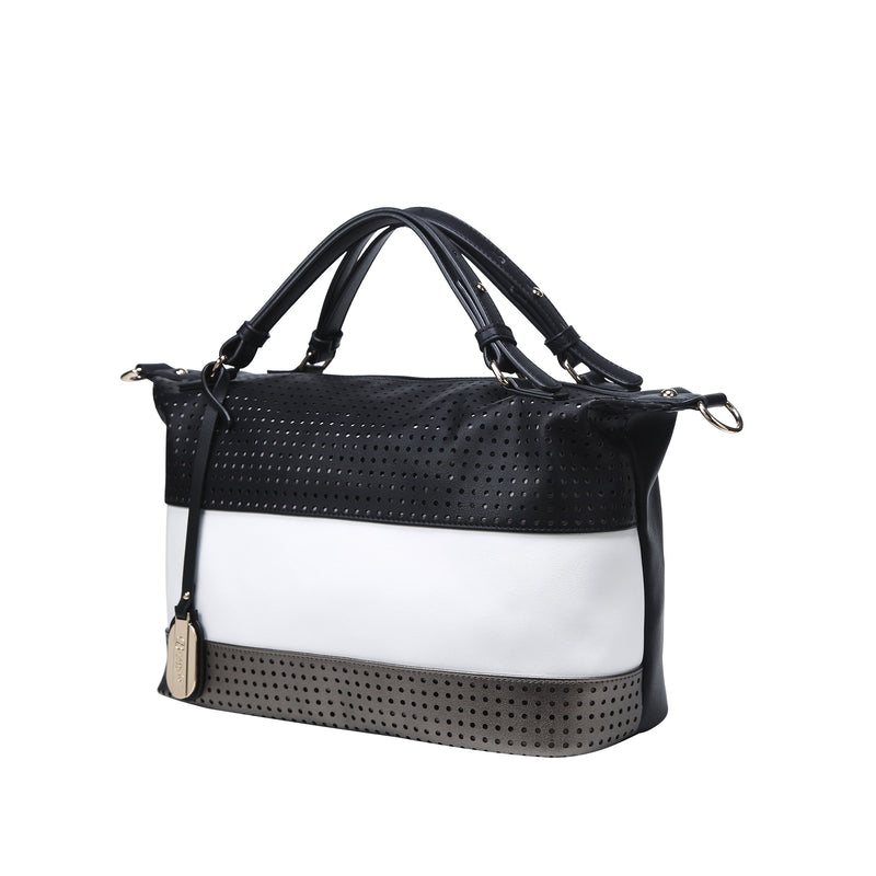 Striped Circles Minimalist Soft Hobo Bag - Brangio Italy Collections