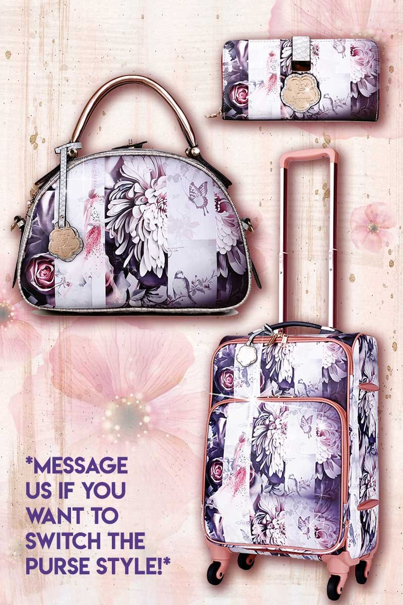 Blossomz 3PC Set | Travel Carry-On Bags for Women - Brangio Italy Collections