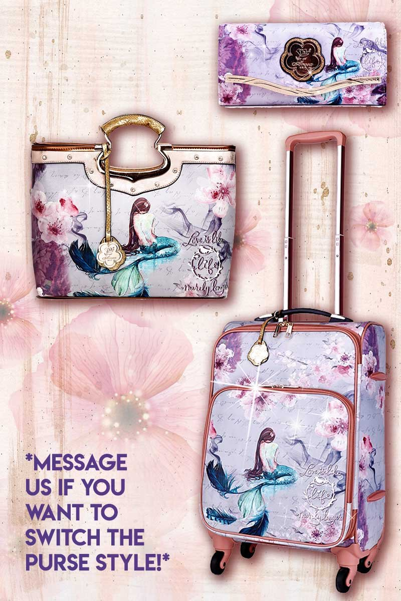 Princess Mera 3PC Set | Vintage Travel Carry on Luggage Spinner Wheels - Brangio Italy Collections