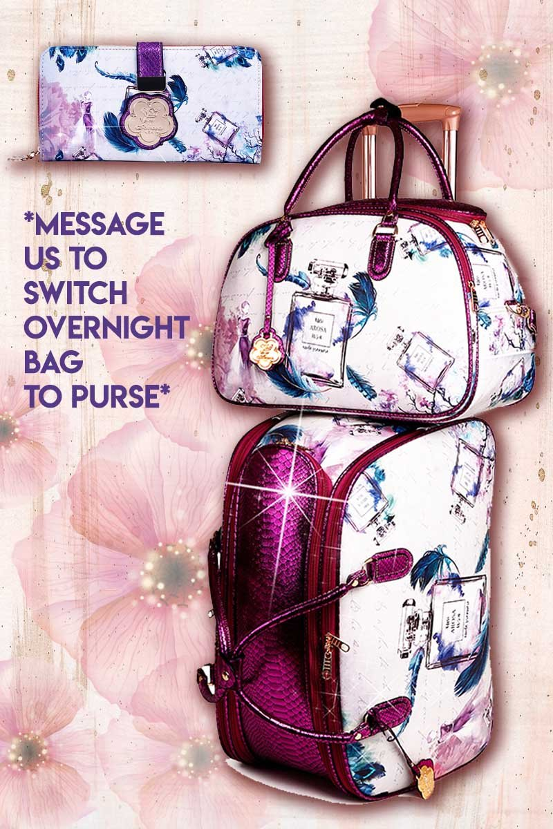 Arosa Fragrance 3PC Set | Women's Duffel Set with Clutch & Bag - Brangio Italy Collections