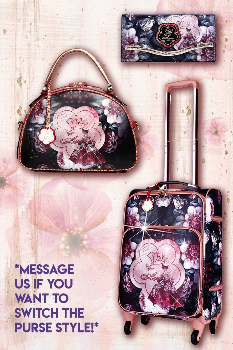 Queen Arosa 3PC Set | Tote Bag Luggage Set with Crossbody Bag - Brangio Italy Collections