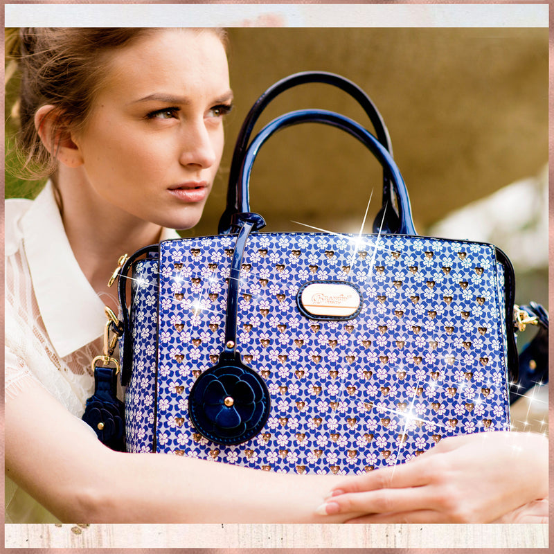 Galaxy Stars Clover Stars Designer Tote Bag - Brangio Italy Collections