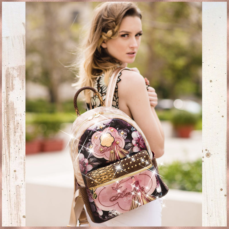 Queen Arosa Backpack with Multiple Pockets Bag - Brangio Italy Collections