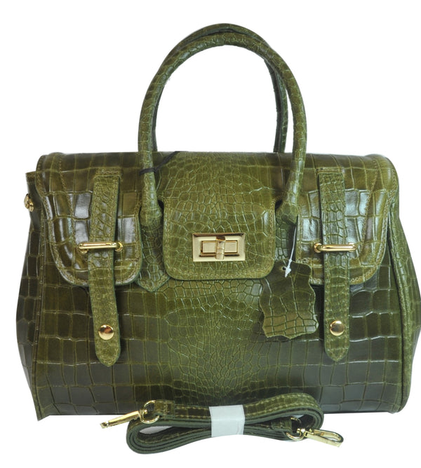 Misty U.S.A. 100% Genuine Cowhide Leather Handbags Made In Italy  [ITEM#:YG8092-GN]
