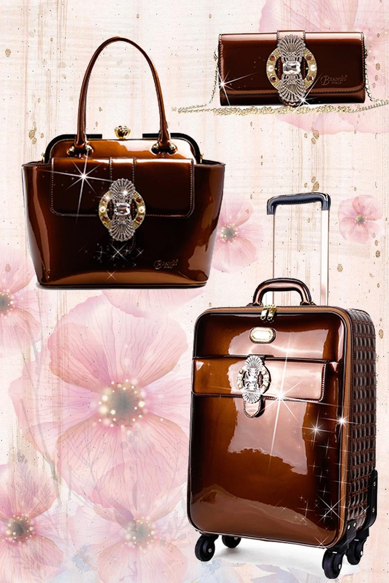 Queen's Crown 3PC Set | Suitcase Getaway Travel Luggage Spinner Wheels - Brangio Italy Collections