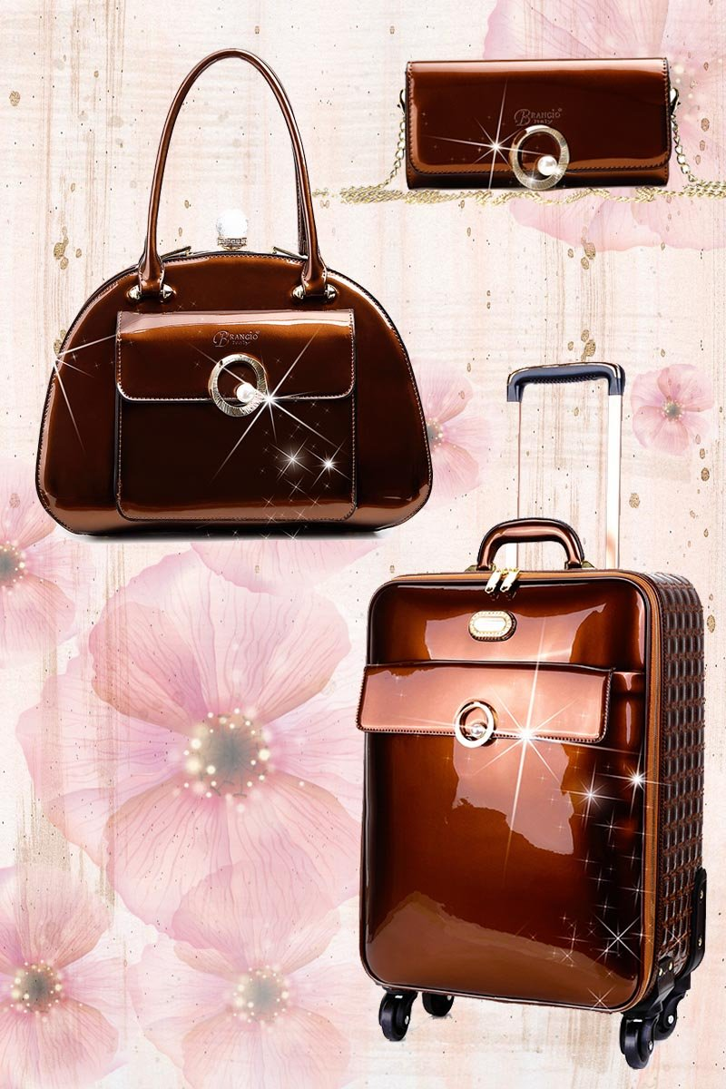 Moonshine 3PC Set | Luxury Women Overnight Bag Set - Brangio Italy Collections