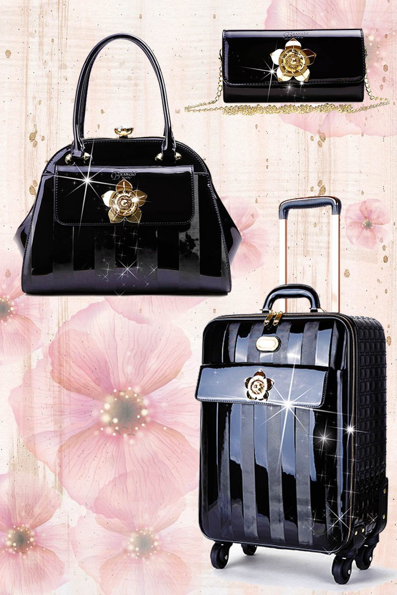 Floral Accent 3PC Set | Travel Bag Deal for Women Signature Set - Brangio Italy Collections